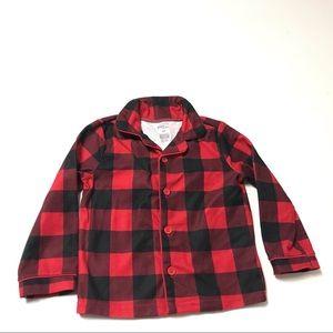 Carter's Unisex Simple Joys Pajama Top Size 3T Red